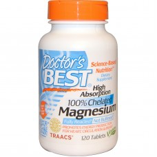 Magnesium, hoge opname, 100% Chelated, 120 tabletten