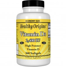 Vitamine D3, 2,400 IU IE, 360 softgels