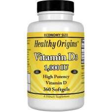 Vitamine D3, 1,000 IU, 360 softgels