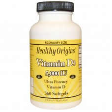 Vitamine D3, 5000 IE, 360 Softgels