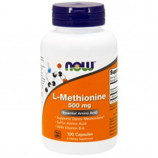 L-Methionine, 500 mg, 100 capsules