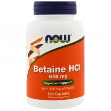 Betaine HCL, 648 mg, 120 capsules