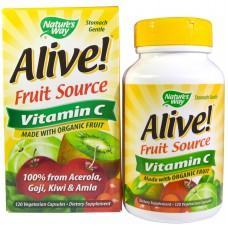Alive!, Fruit Source, Vitamin C, 120 vegetarische capsules
