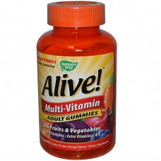 Alive!, Multi-Vitamine Adult, fruit smaak, 90 Gummies