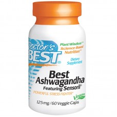 Best Ashwagandha, Featuring Sensoril, 125 mg, 60 vegetarische capsules