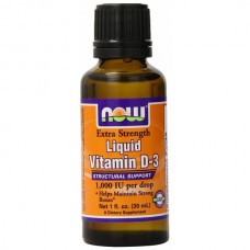 Extra Strength vloeibare vitamine D-3, 1,000 IU, 1 fl oz (30 ml)