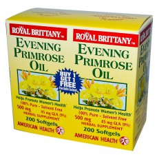 Royal Brittany, Teunisbloemolie (Evening Primrose Oil), 500 mg, 2 flessen, beiden 200 softgels