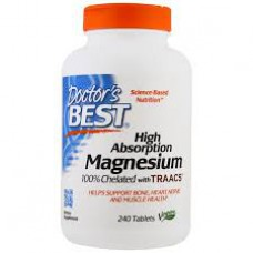 Magnesium, hoge opname, 100% Chelated with TRAACS, 240 tabletten